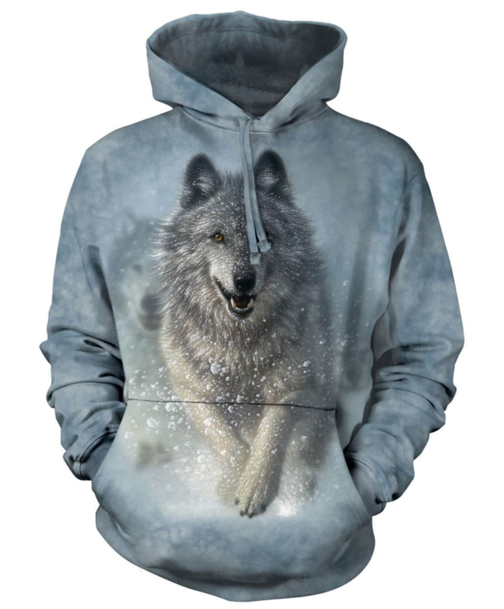 White Cotton Snow Plow Awesome Animal Hoodie Cool (Medium) New by The Mountain