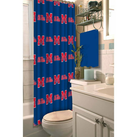 NCAA Ole Miss Shower Curtain 1 Each