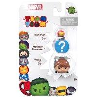 Marvel Tsum Tsum Series 2 Iron Man & Wasp Mini Figure, 3 Pack