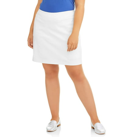 Women's Plus Size Stretch Woven Skort (Print Border Skort)