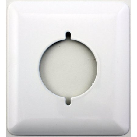 Mulberry Princess Style White 2 Gang Slotted Dryer Outlet Switch Plate