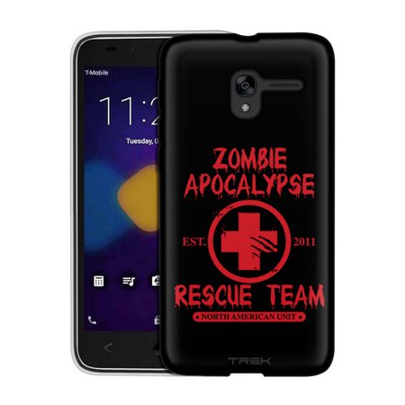 Alcatel TRU Case, Snap On Cover by Trek Zombie Apocalypse 2012 Rescue Team Red on Black Slim Case