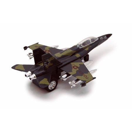 Air Force FF-18, Blue w/ Green - Showcasts 8115/8D - Diecast Model Toy Car (Brand New but NO BOX)