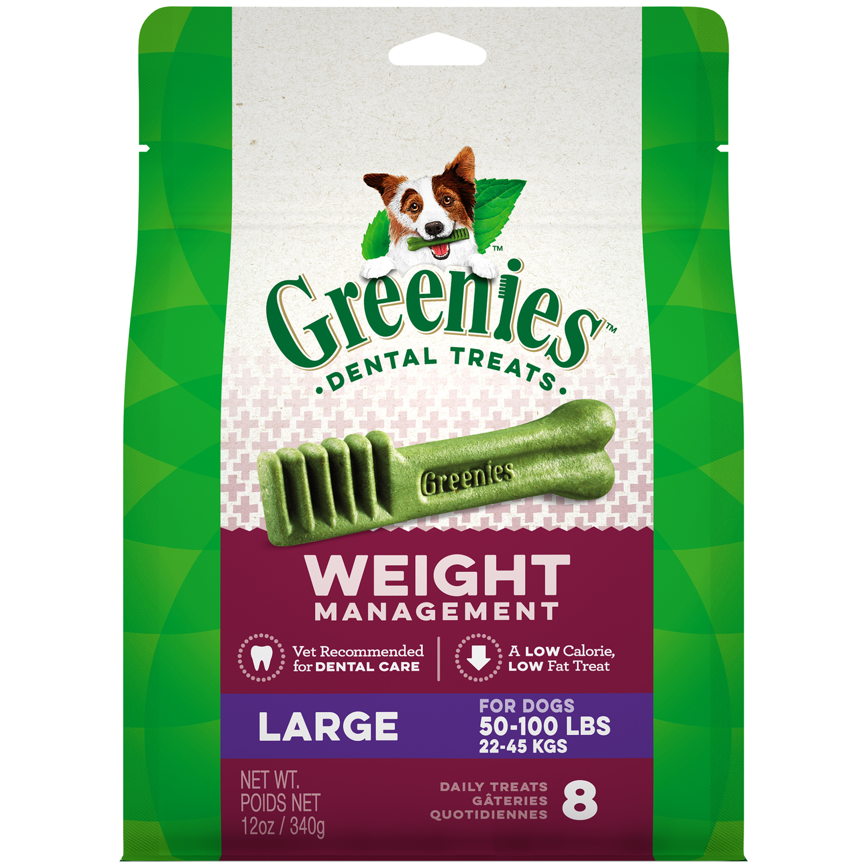 Greenies Weight Management Large Dental Dog Treats, 12 oz. Pack (8 Treats)