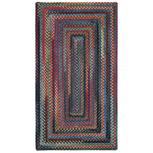 Capel Rugs High Rock Braided Rug - Blue