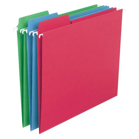- SMEAD FasTab Colored Hanging Folders, Letter 30ct