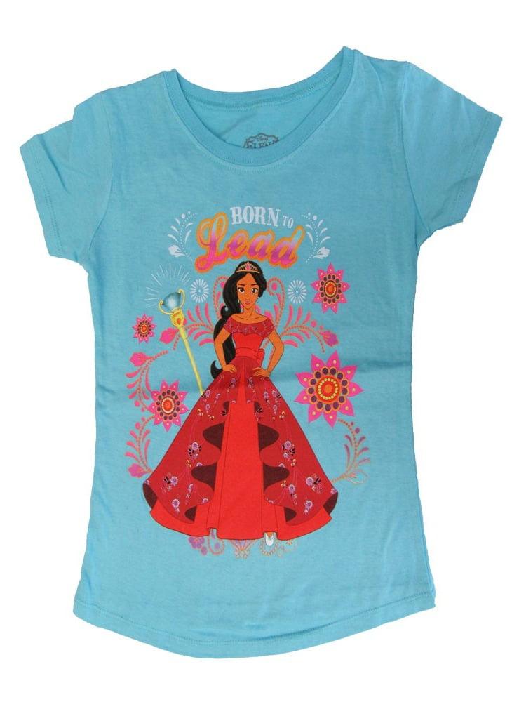 "Disney Girls Sky Blue Elena Of Avalor ""Born To Lead"" Print T-Shirt"