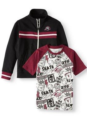 Wonder Nation Track Jacket and T-Shirt 2-Piece Set (Little Boys, Big Boys, & Husky)