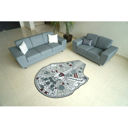 Star Wars Large Millennium Falcon Entry or Area Rug, 59