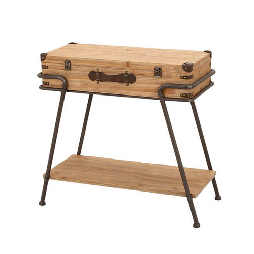 EC World Imports Handcrafted Removable Storage Trunk by ecWorld