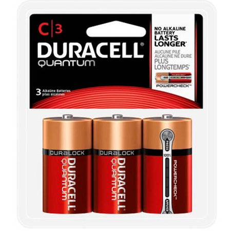 Duracell Quantum Alkaline C Batteries, 3 count - Walmart.com