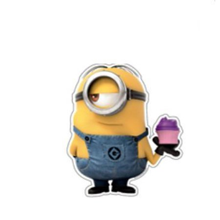 Despicable Me 2 Minion with Cupcake Sticker - Cupcake Minions