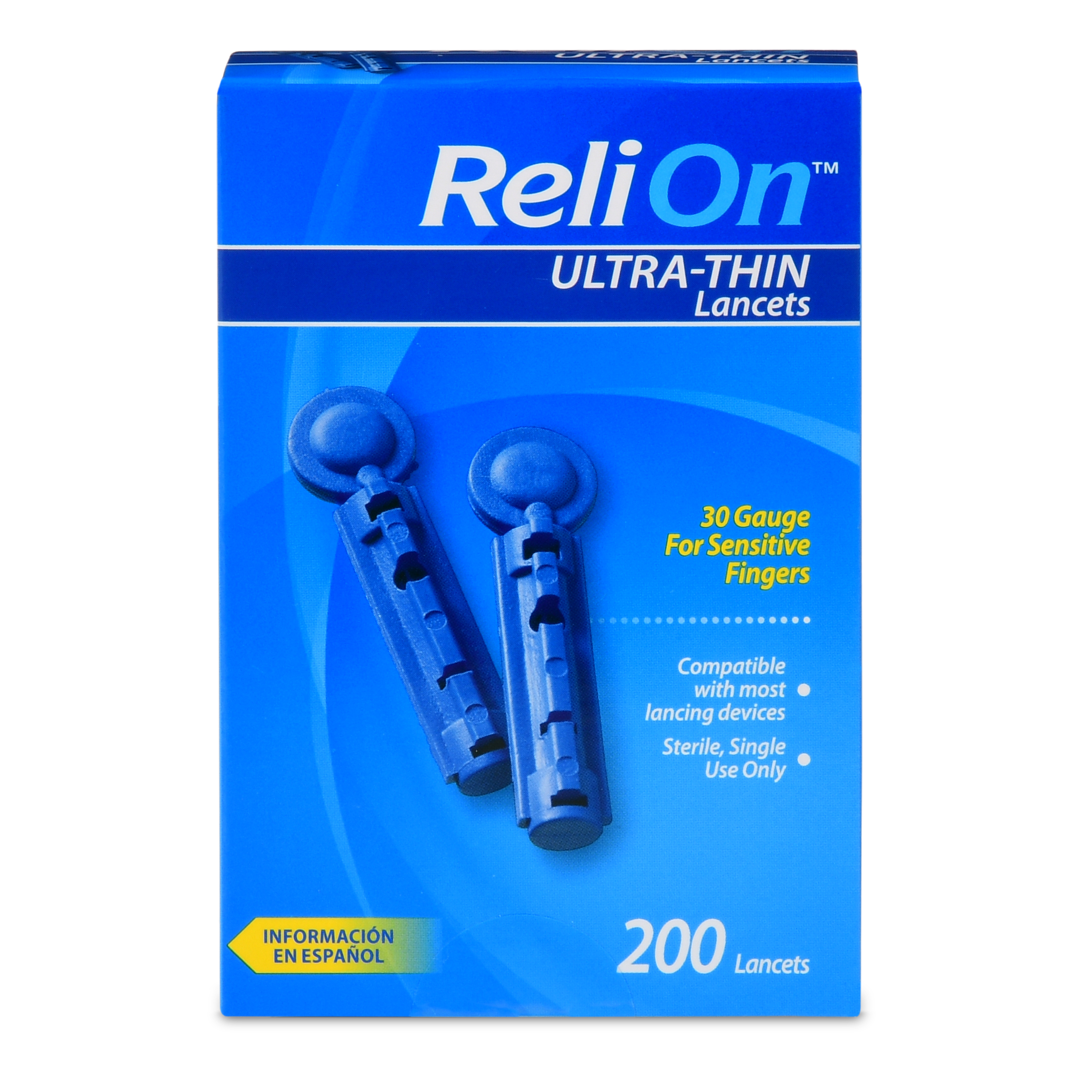 ReliOn 30 Gauge Ultra-Thin Lancets, 200 Ct