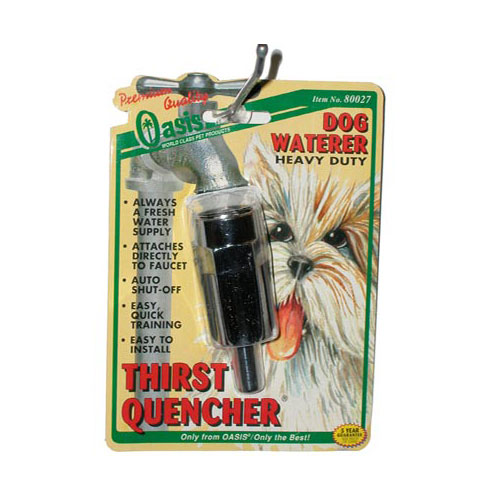 Oasis Thirst Quencher Dog Water Faucet
