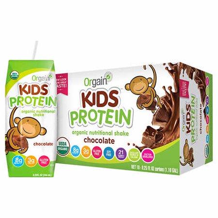 Orgain Healthy Kids Organic Chocolate Shake 8.25 fl oz, 18-count ()