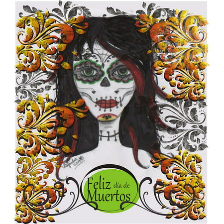 Peel-n-Stick Poster of Catrina Mexico Day Of The Dead Popular FestivalsPoster 24x16 Adhesive Sticker Poster - Who Is Catrina Day Of The Dead