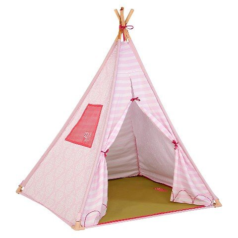 """Our Generation Suite Teepee """" Pink Polyester """" Indoor """" Night-Light Included """" for Children and 18 Inch Dolls - image 1 of 1"""