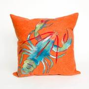 Liora Manne Lobster Indoor / Outdoor Throw Pillow