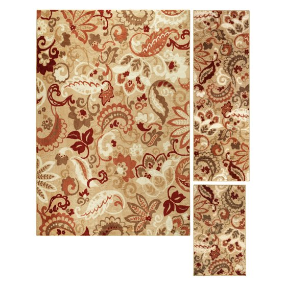 Home And Garden Rugs: Better Homes And Gardens Paisley 3-Piece Area Rug Set