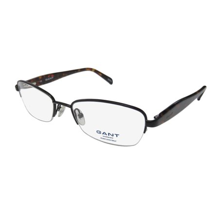 New Gant Gw Lo Womens/Ladies Designer Half-Rim Black / Tortoise Half-rimless Durable Womens Size Frame Demo Lenses 51-18-135 Spring Hinges Eyeglasses/Glasses