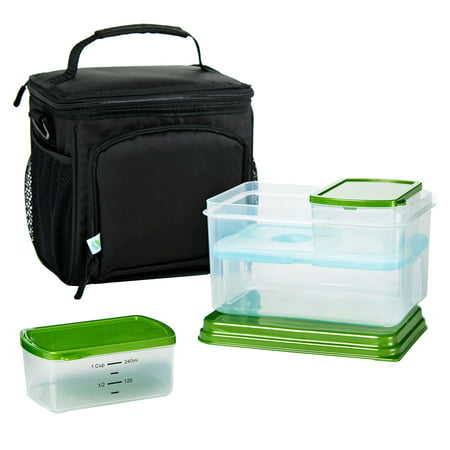 Fit & Fresh7094ltgkit Insulated Meal Prep Bag With Leak -