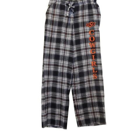 Oregon State University (OSU) Cowgirls Plaid Flannel Pajama Lounge Sleep Pants (Large)