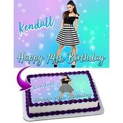 Ariana Grande Edible Image Cake Topper Personalized Birthday 1/4 Sheet Decoration Custom Sheet Party Birthday Sugar Frosting Transfer Fondant Image Edible Image for cake