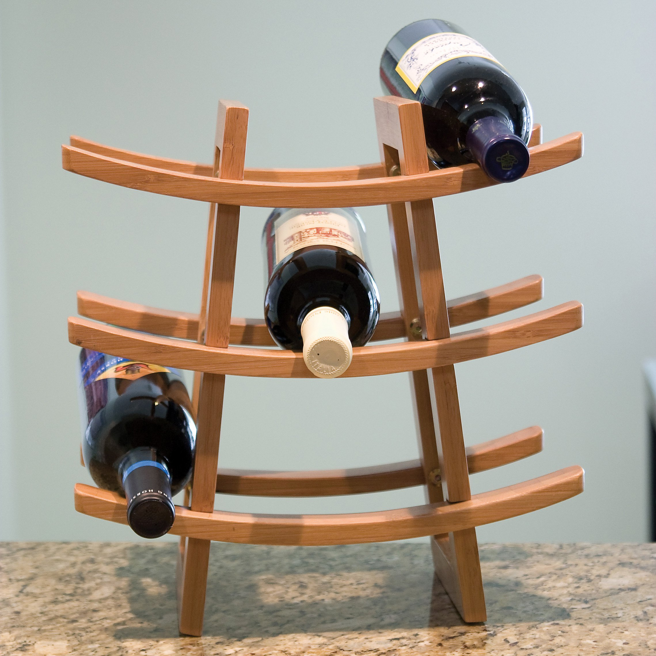 Lipper 9-Bottle Bamboo Wine Rack