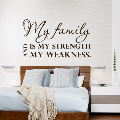 Stickalz llc Brown Quote My Family Wall Art Decal Sticker