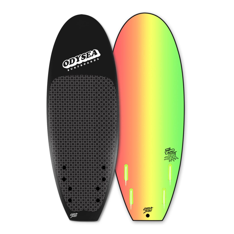 "Catch Surf Wake Surfer - Odysea Stump 5'0"" Quad - Black"