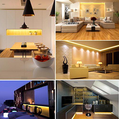 LEDMO SMD 2835 White Non-waterproof LED Light Strip DC12V 600LEDs 16.4 Ft