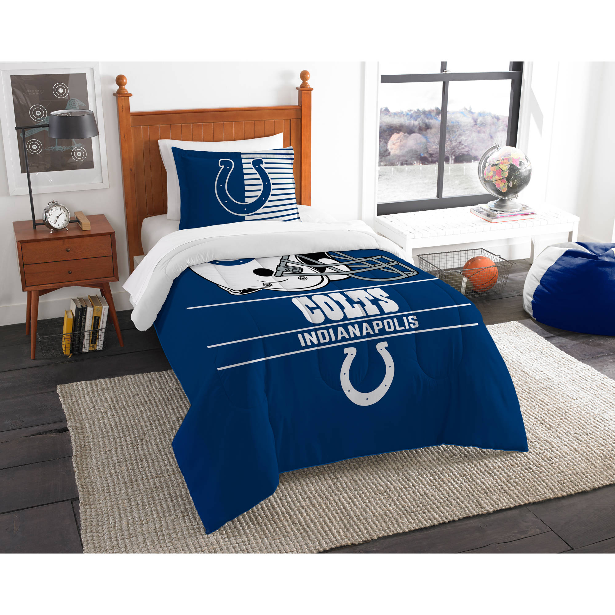"NFL Indianapolis Colts ""Draft"" Bedding Comforter Set"