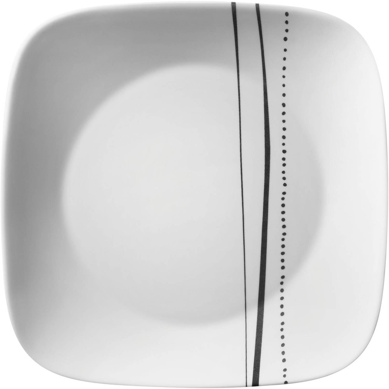 corelle square 16 pc dinnerware set cascading lines square plates