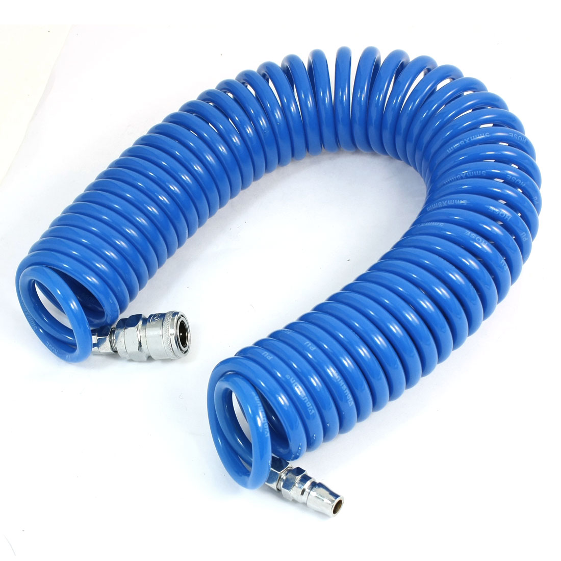 Unique Bargains 900cm Recoil Air Brake Hose Re Coil Pneumatic Compressor Tools Blue