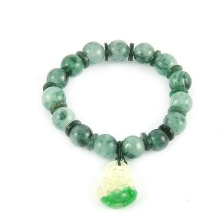 Faux Jade Prayer Beads Plastic Buddha Pendant Bracelet Green Dragon Green Jade Necklace