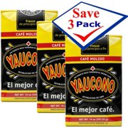 Yaucono Puerto Rican Ground Coffee 14 oz Bag  Pack of 3