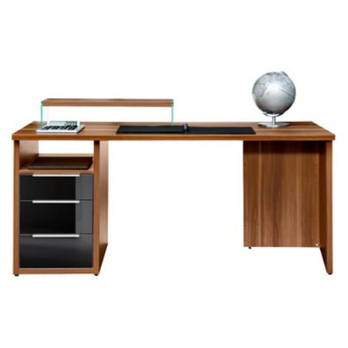 Arte M Work 47 inch Combination Desk with Glass Front Drawers