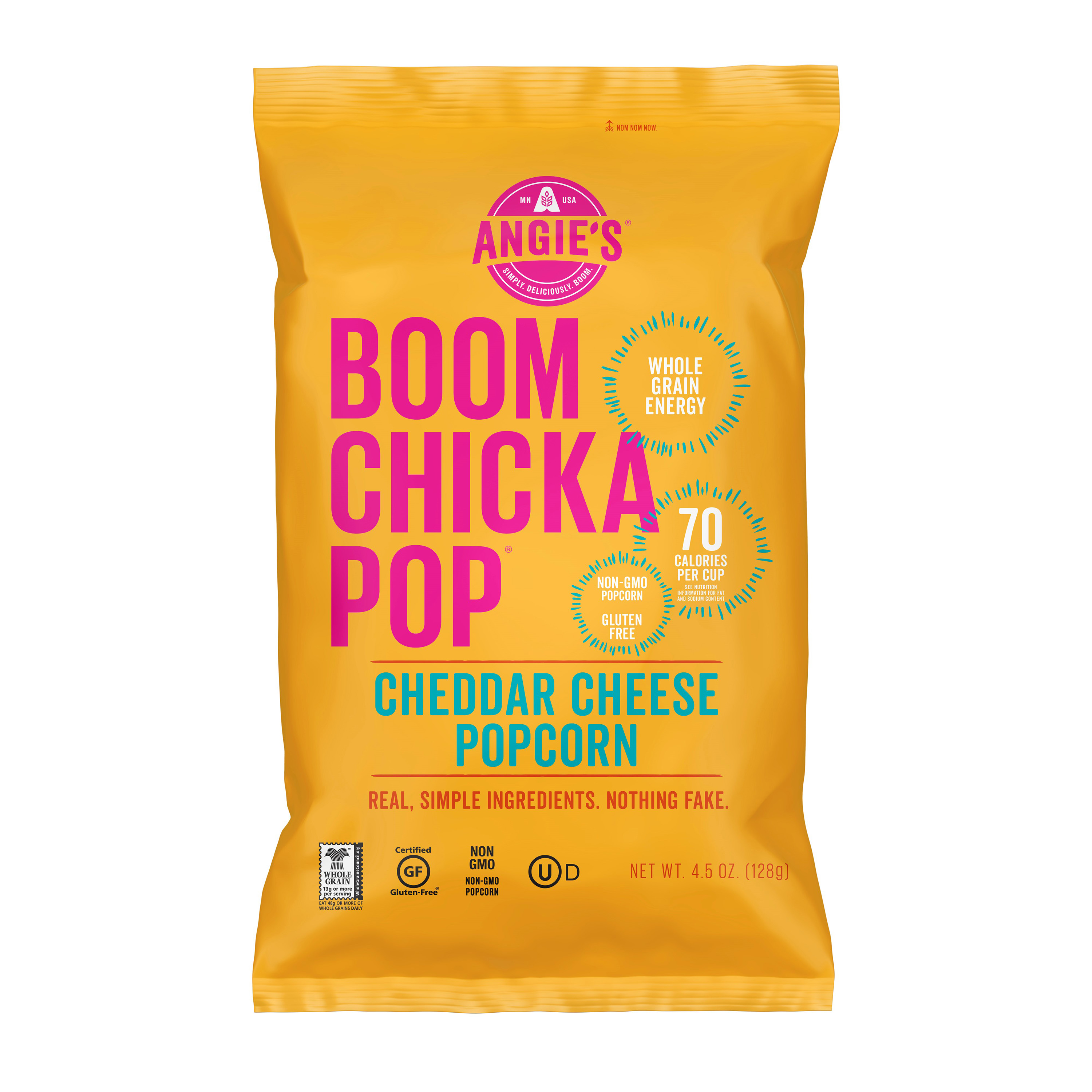 (3 Pack) Angie Boom Chick Pop Cheddar Cheese Popcorn, 4.5 oz