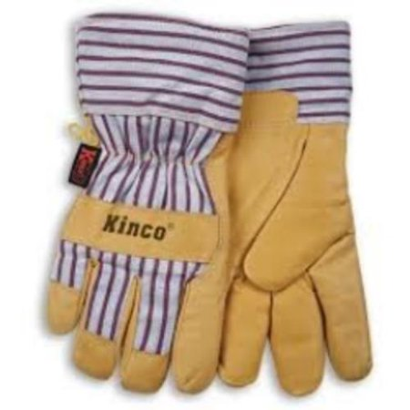 Kinco Insulated Gloves (Kinco 1927M Work Gloves, Grain Pigskin Palm, Material Back And Cuff, Heatkeep Insulated Lining,)