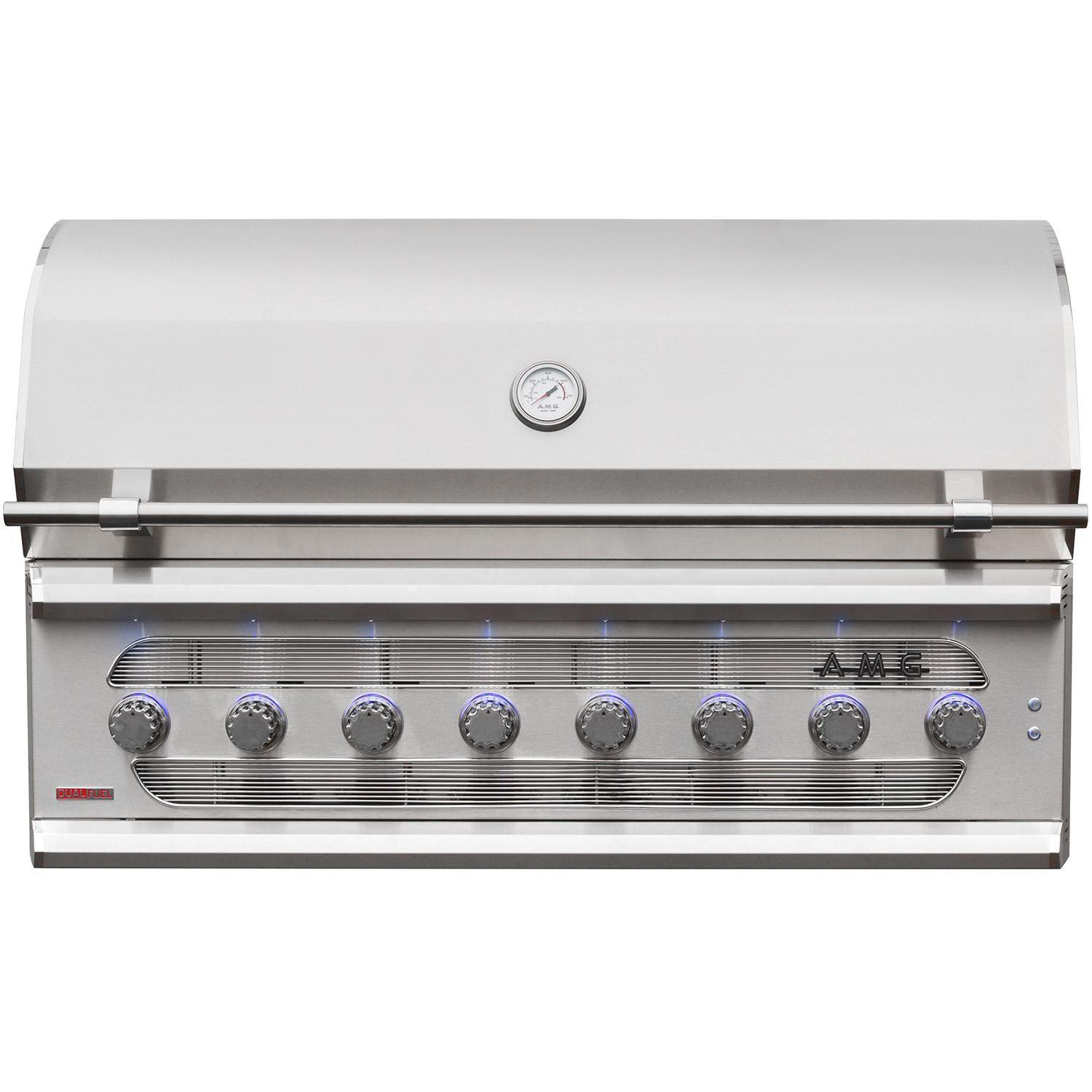 "American Muscle Grill Built-In Charcoal/Gas Grill, 54"", Propane"