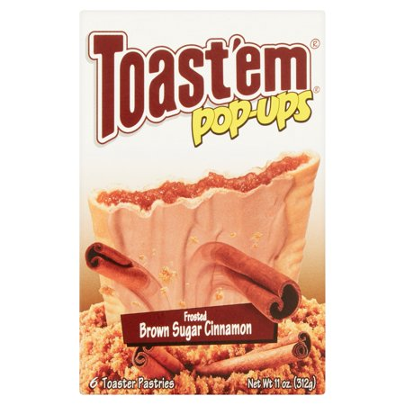 Toastem Pop Ups Frosted Brown Sugar Cinnamon Toaster Pastries  6 Count  11 Oz