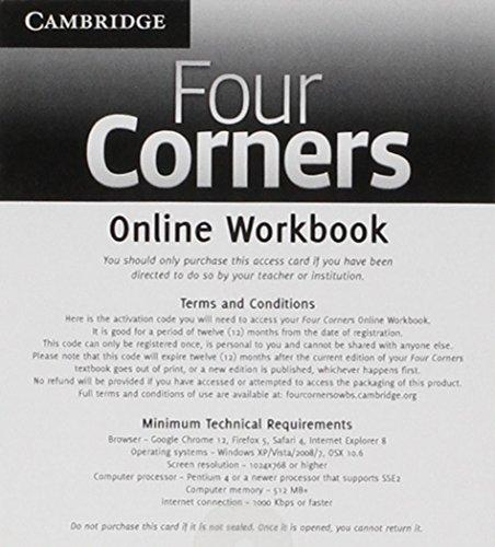 Four Corners Level 2 Online Workbook a (Standalone for Students) (Other)