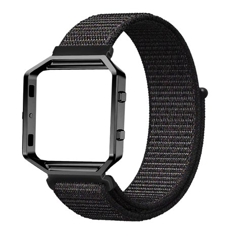 Fintie Nylon Watchband Wrist Bands & Straps with Metal Frame Housing for Fitbit Blaze Smart Fitness ()