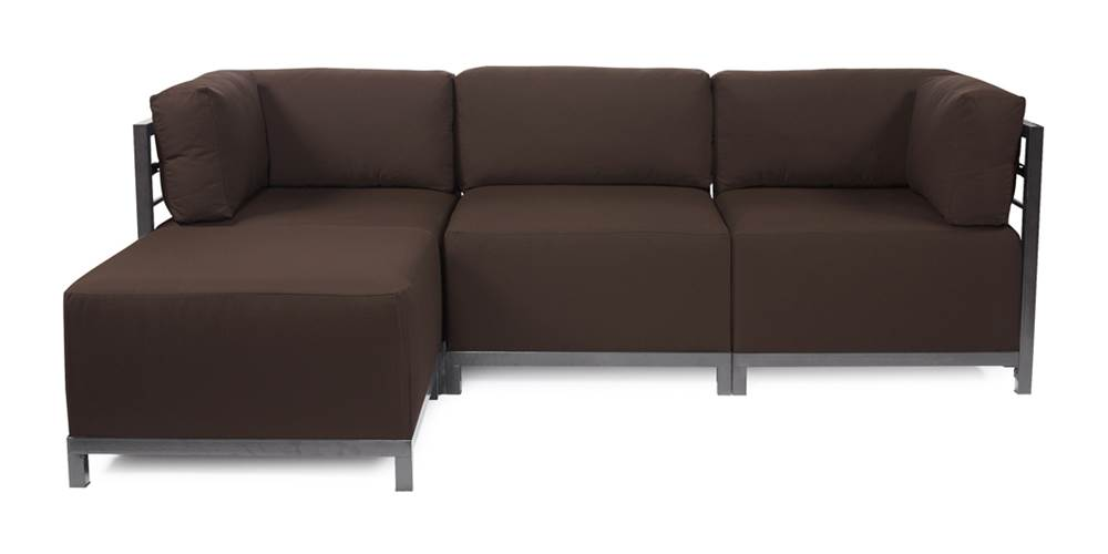4-Pc Sectional in Seascape Chocolate by Howard Elliott Collection
