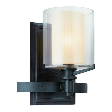 One Light French Iron Bathroom Sconce