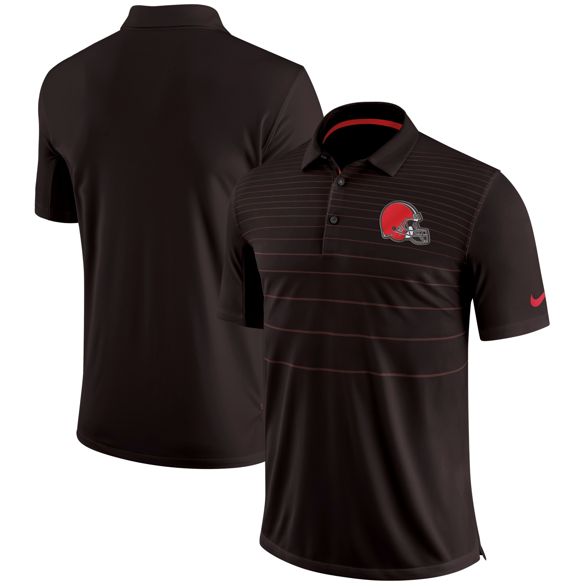 Cleveland Browns Nike Sideline Early Season Performance Polo - Brown - S
