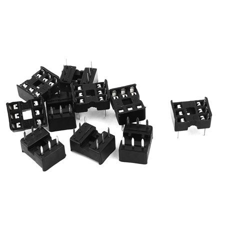 Unique Bargains 10PCS Solder Type 2 Row 6 Pins Integrated Circuit DIP IC Sockets Adaptor