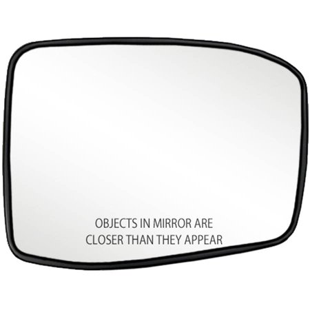 80257 - Fit System Passenger Side Non-heated Mirror Glass w/ backing plate, Honda Odyssey 05-10, 5 7/ 16