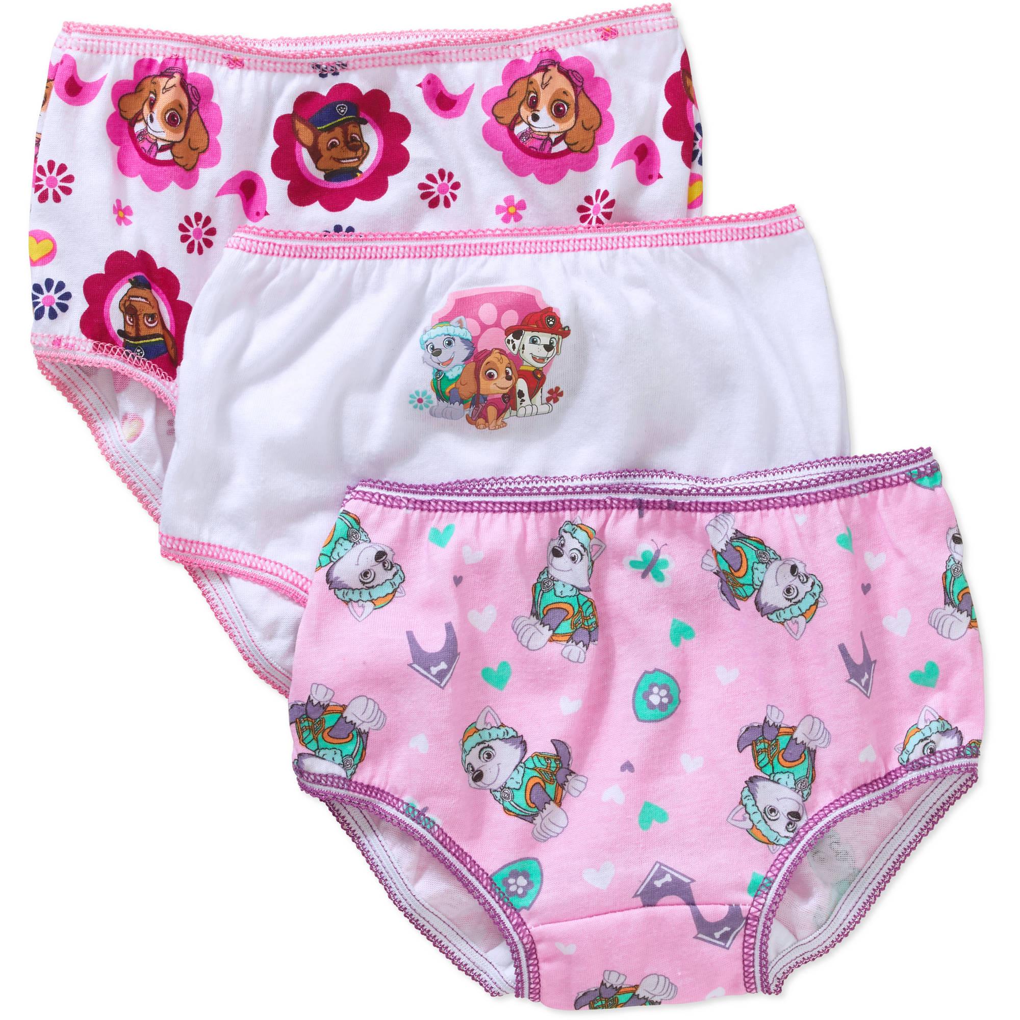Nickelodeon Paw Patrol Toddler Girls Underwear, 3-Pack