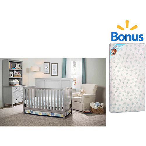 Delta Children's Epic 4-in-1 Fixed-Side Crib with BONUS Mattress Bundle